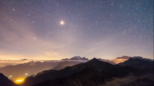 Total Moon Eclipse the full sequence from Dolomites