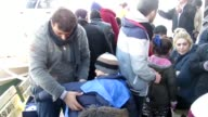 Total of 32 refugees of Afghan origin are captured by Turkish coast guard while they were illegally trying to reach Greece's Lesbos island through...