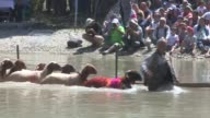 A total of 49 shepherds and their herds cross the Buyuk Menderes River during the eightcenturyold rivercrossing competition which is held to test the...
