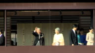 A total of 82690 wellwishers gave New Year's greetings to imperial family members at the Imperial Palace in Tokyo January 2 2016 in Tokyo Japan the...
