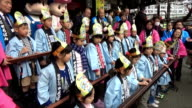 "A total of 92 children gathered at Yushima Tenjin shrine in Tokyo's Taito Ward to add subtract multiple and divide as they competed in ""soroban""..."
