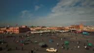 Total shoot of Jemaa el fna. Marrakech.