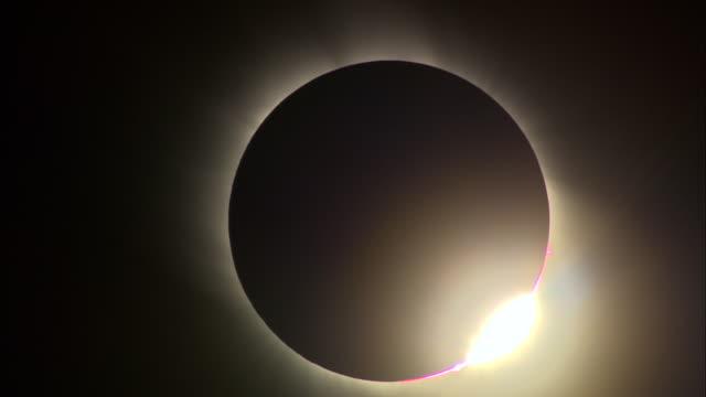 MS, Total solar eclipse against dark sky