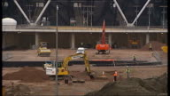 Tottenham Hotspur accused of spying on Olympic officials during stadium bid man arrested DATE Olympic Park EXT Mechanical diggers on construction...