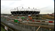 Tottenham Hotspur bid to take over London 2012 Olympic stadium details of bid ENGLAND London Stratford Olympic 2012 stadium Closer shot showing...