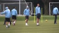 Tottenham players train in Chigwell with David Beckham under intense media attention Tottenham Hotspur David Beckham Training at Tottenham Hotspur...