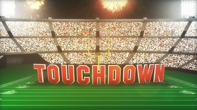 Touchdown! Calcio con alfa di animazione