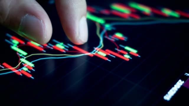 Berühren Börse Grafik.