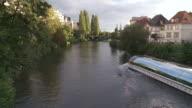WS Tour boat on rhine river / Strasbourg, Alsace, France