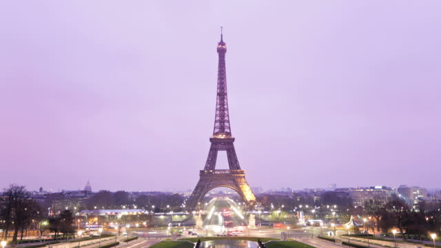 Tour Eiffel Timelapse, HD Video, Paris