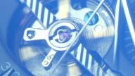 Tourbillon close up on black dial elegant timepiece