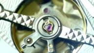 Tourbillon close up on white dial