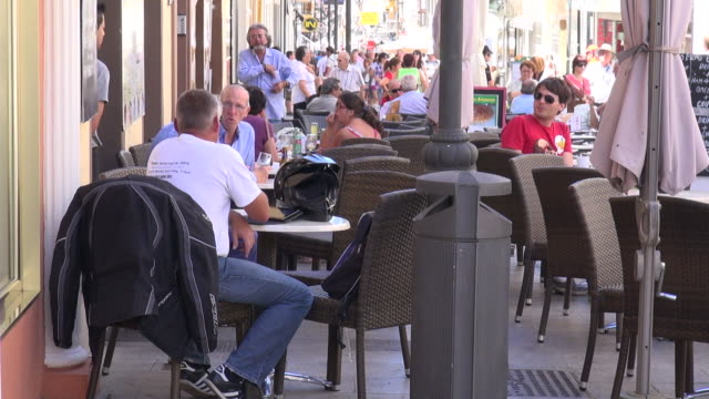 Tourism helps southern Spain fight back Ronda Cafes at Ronda on July 29 2013 in Ronda Spain