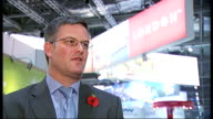 World Travel Market exhibition opens at ExCel Centre ExCel Centre World Travel Market exhibition INT Chris Gottlieb interview SOT Woman singing and...