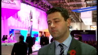 World Travel Market exhibition opens at ExCel Centre Sign 'London' PAN Reporter to camera Simon Press interview SOT Dwight Yorke interview SOT...