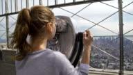 Tourist admiring view of Manhattan NYC