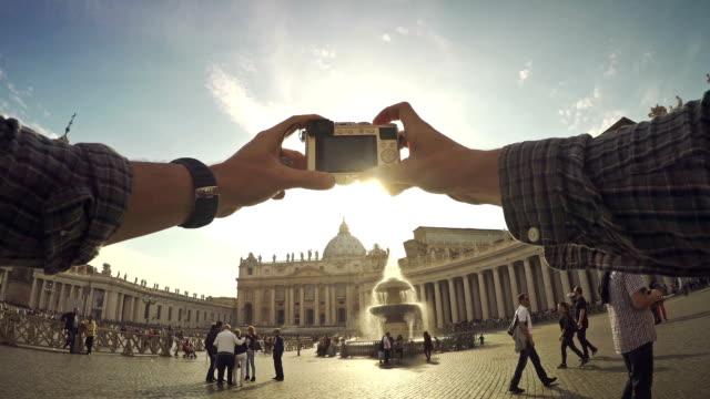 Tourist POV at Saint Peter Square in Vatican, Rome