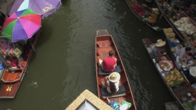 WS HA Tourist boat in Damnoen Saduak floating markets, Bangkok, Thailand