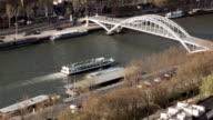 Tourist boat on La Seine (from Eiffel Tower) 1