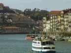 Tourist boats and architecture in Porto Portugal