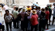 Tourist groups visiting Old Havana, a major tourist destination in Cuba