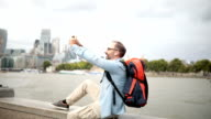 Tourist taking a selfie