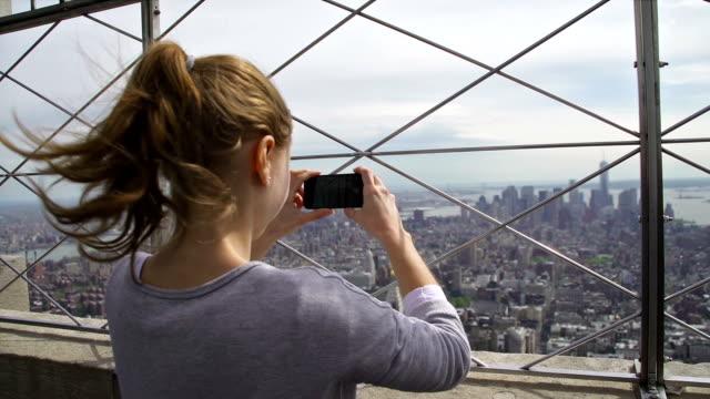 Touristen Fotografieren von Manhattan, NYC