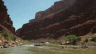 WS POV Tourist whitewater rafting on river Colorado in Grand Canyon / Grand Canyon Village, Arizona, USA
