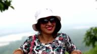 Touristischen Frau Porträt