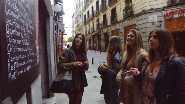 Tourist women in Madrid, Spain