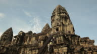 WS LA Tourists at ancient temple / Angkor Wat, Siem Reap, Cambodia