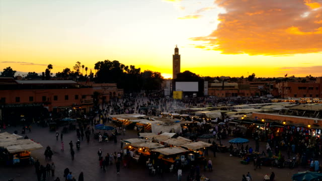 Tourists at Djemaa el Fna square
