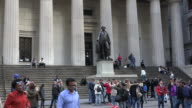 Tourists at Federal Hall National Memorial in New York City