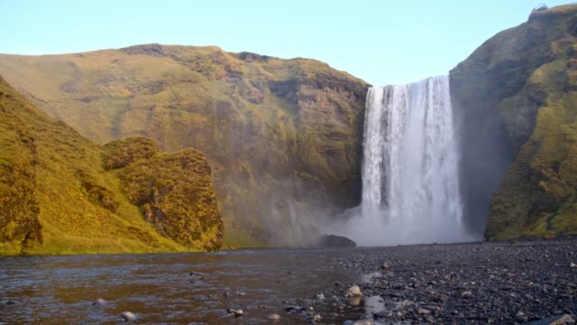 DS Tourists at Skogafoss waterfall in Iceland