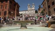 WS LA Tourists at Spanish Steps / Rome, Italy