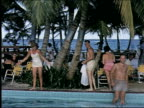 Tourists by hotel pool in Jamaica on January 01 1950 in Jamaica