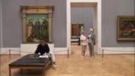 WS Tourists in Alte Pinakothek, Munich, Bavaria, Germany