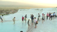 Tourists in the Water, Pamukkale, Turkey