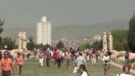Tourists on Lawn, Ankara, Turkey