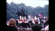 1966 tourists visit Buckingham Palace, Gold State Coach