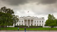 Tourists Visiting The White House - Timelapse