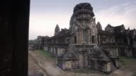 WS, PAN Tourists walk through Angkor Wat temple / Siem Reap, Cambodia