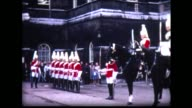 1966 tourists watching British Horse Guards