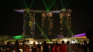 WS Tourists watching lightshow at Marina Bay Sands