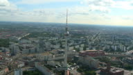 TV Tower Alexanderplatz Berlin Germany Aerial