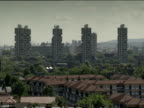 Tower blocks stand tall in residential district London