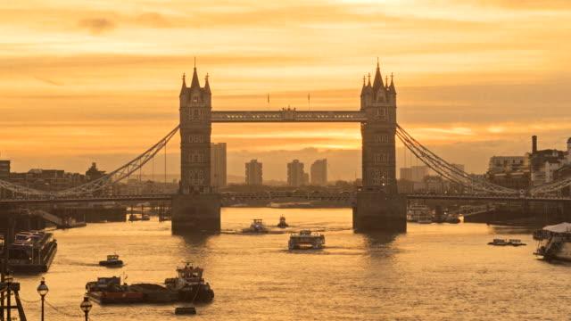 Tower Bridge at sunrise, London, UK
