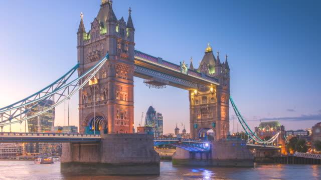 Tower bridge at twilight time