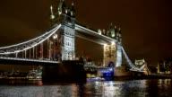 Tower Bridge in London, UK,  in the evening