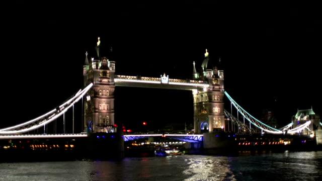 Tower Bridge, River Thames at Night - London